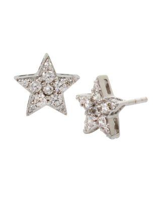 Blue Starlet Star Stud Earrings Crystal