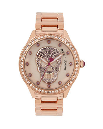 BLUSHING PINK SKULL WATCH