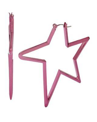 Boom hoop star hoops fuchsia