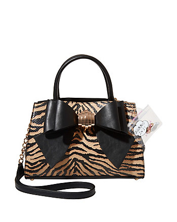 BOW YOU SEE IT TIGER REMOVABLE BOW SATCHEL