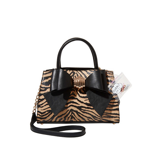 Bow You See It Tiger Removable Satchel