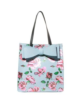 BOWRIFFIC SHOPPER TOTE DENIM FAB