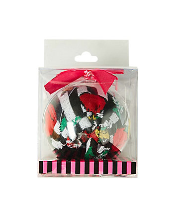 BOWTASTIC CREW SOCK ORNAMENT GIFT BOX