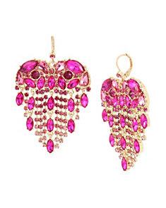 Breaking Hearts Fringe Earrings
