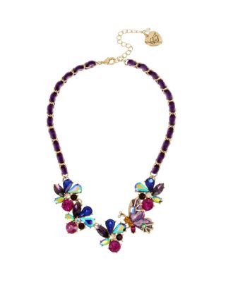 BUTTERFLY BLITZ BUTTERFLY FRONTAL NECKLACE PURPLE