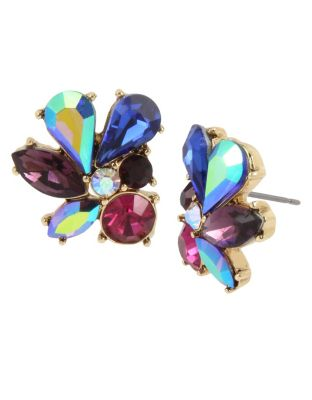 BUTTERFLY BLITZ CLUSTER STUD EARRINGS MULTI