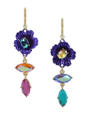 Image of BUTTERFLY BLITZ FLOWER EARRINGS MULTI