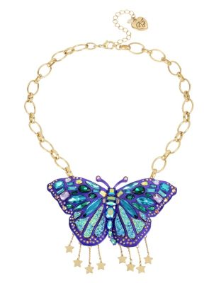 BUTTERFLY BLITZ LARGE PENDANT WITH DANGLES PURPLE