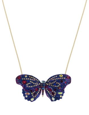 BUTTERFLY BLITZ LONG PENDANT PURPLE