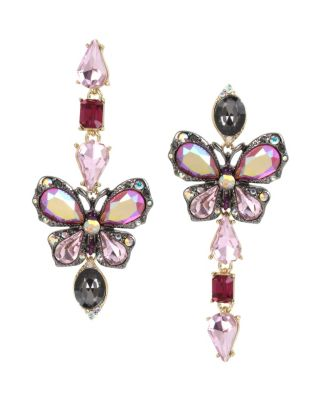 BUTTERFLY BLITZ MISMATCH EARRINGS PINK