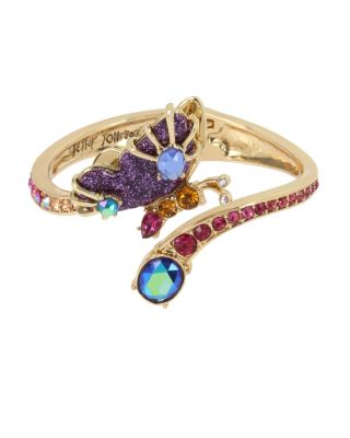 Image of BUTTERFLY BLITZ SIDE HINGE BANGLE PURPLE