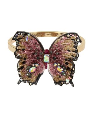 BUTTERFLY BLITZ STATEMENT HINGE BANGLE PINK