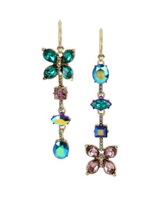 BUTTERFLY BLITZ STONE LINEAR EARRINGS MULTI