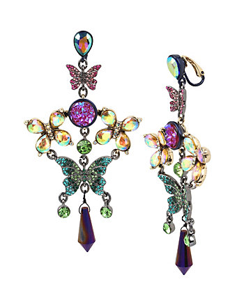 BUTTERFLY DREAMS CHANDELIER CLIP EARRINGS