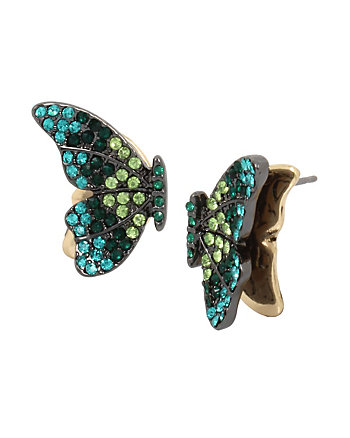 BUTTERFLY DREAMS GREEN STUD EARRINGS