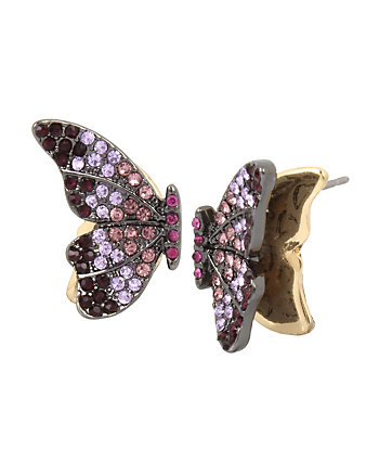 BUTTERFLY DREAMS PURPLE STUD EARRINGS