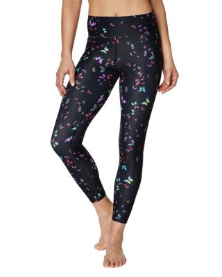 BUTTERFLY PRINT MESH PANEL LEGGING MULTI