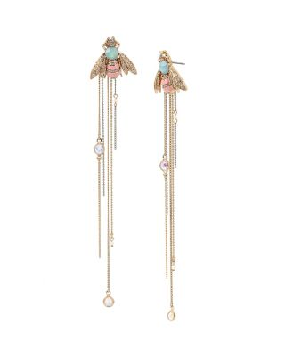 BUZZ OFF BUG LINEAR EARRINGS MULTI