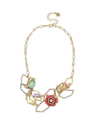 BUZZ OFF FLOWER FRONTAL NECKLACE MULTI