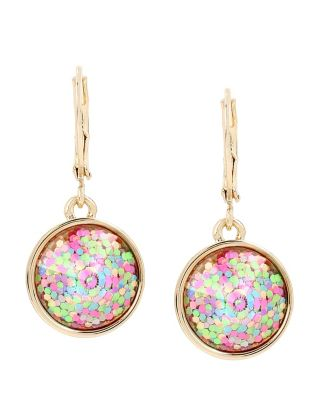 BUZZ OFF GLITTER DROP EARRINGS MULTI