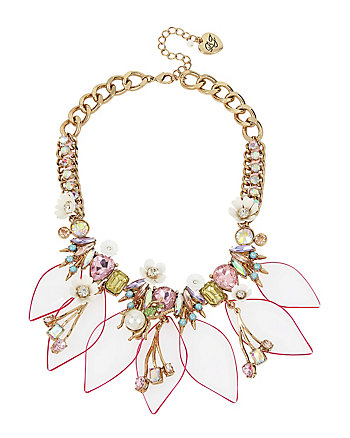 BUZZ OFF LUCITE FRONTAL NECKLACE