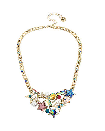 CELESTIAL STARLET BIB NECKLACE