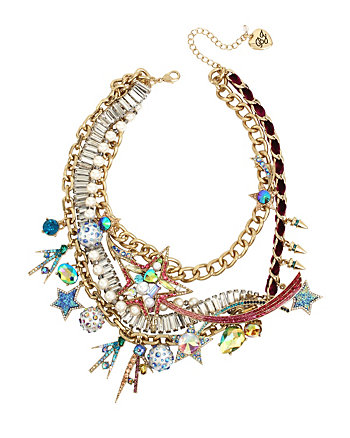 CELESTIAL STARLET DRAMA FRONTAL NECKLACE