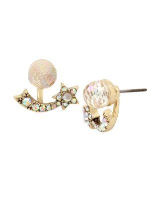 Celestial Starlet Front Back Earrings Crystal