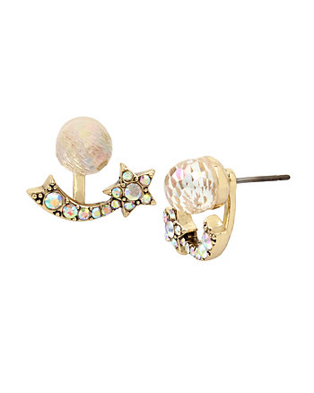 CELESTIAL STARLET FRONT BACK EARRINGS