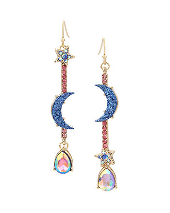 CELESTIAL STARLET LINEAR MISMATCH EARRINGS