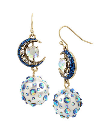 CELESTIAL STARLET MOON DROP EARRINGS