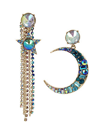 CELESTIAL STARLET MOON EARRINGS