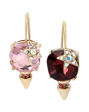 CELESTIAL STARLET STONE DROP EARRINGS