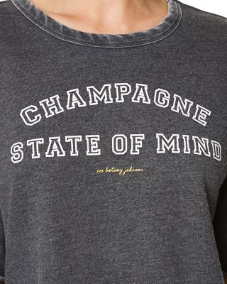 Image of CHAMPAGNE STATE OF MIND CROP TEE BLACK