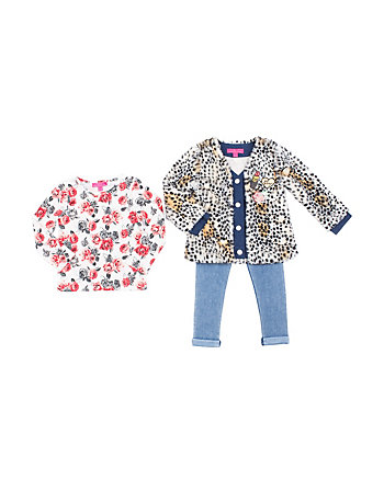CHEETAH-RIFIC TODDLER 3 PIECE JACKET SET