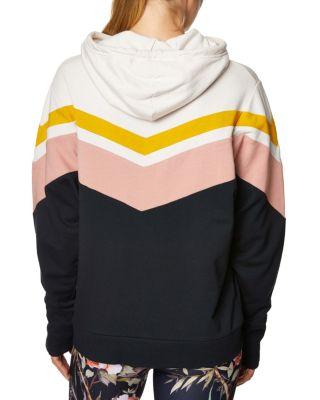 Chevron colorblock hoodie black back