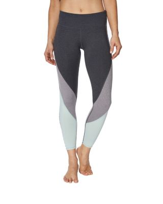 CHEVRON COLORBLOCKED CUTOUT LEGGING SEAFOAM SU