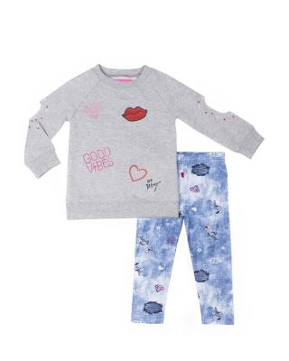 Image of CITY GIRL TODDLER TWO PIECE SET GREY