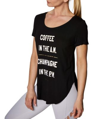 Image of COFFEE AND CHAMPAGNE TEE BLACK