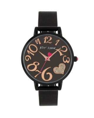 Image of COLOR TIME BLACK HEART WATCH BLACK
