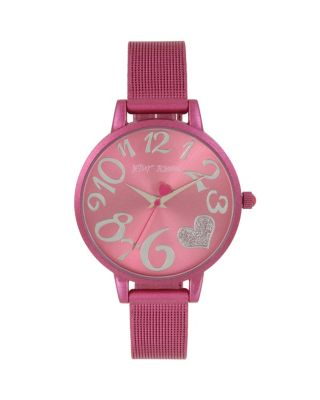 COLOR TIME PINK HEART WATCH PINK