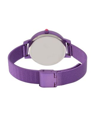 COLOR TIME PURPLE HEART WATCH PURPLE