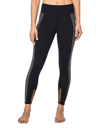 COLORBLOCK METALLIC INSERT CROP LEGGING