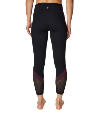COLORBLOCK SIDE STRIPE LEGGING BLACK