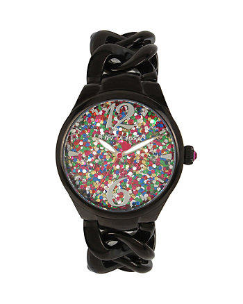 CONFETTI GUNMETAL LINK WATCH
