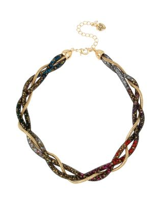 CONFETTI MULTI TWIST COLLAR NECKLACE MULTI