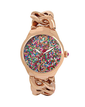 CONFETTI ROSE GOLD LINK WATCH