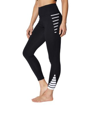 Image of CONTRAST BANDED LEGGING BLACK/WHITE