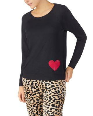 Cozy time jersey top black