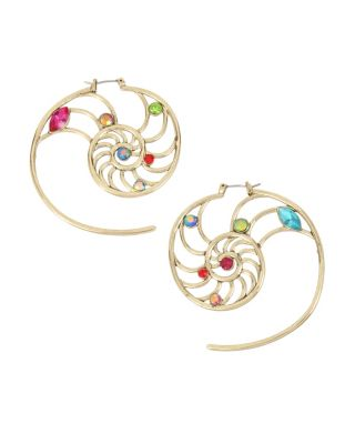 Crabby couture shell openwork earrings multi